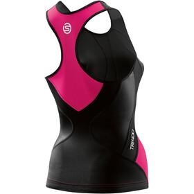 Skins TRI400 Racer Back Triathlon-toppi Naiset, black/pink